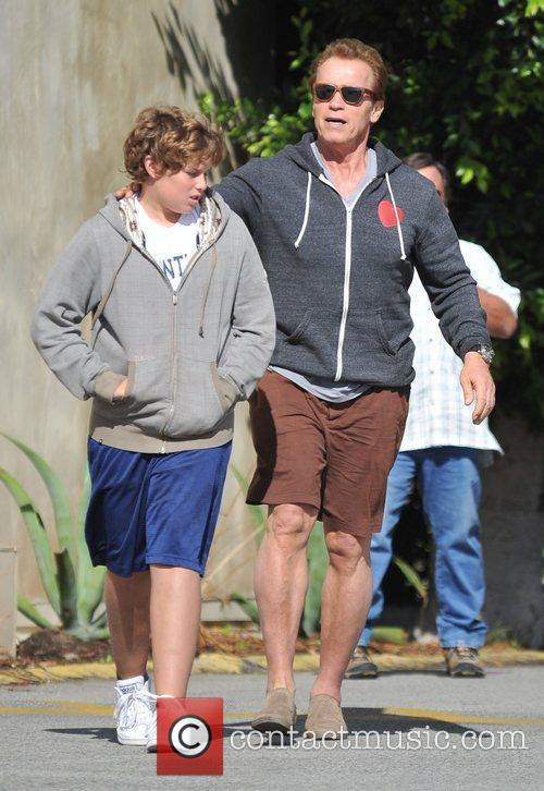 Takes his son for lunch in Santa Monica