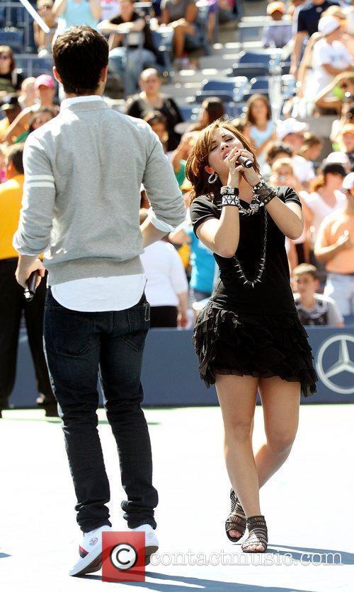 Joe Jonas and Demi Lovato 2010 US Open...