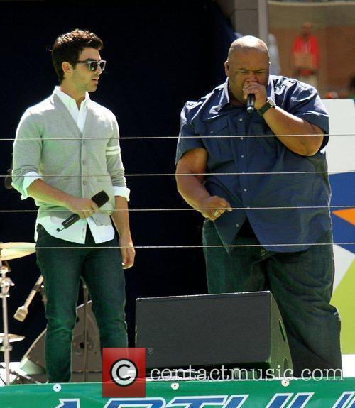 Jonas Brothers and Big Rob 2010 US Open...