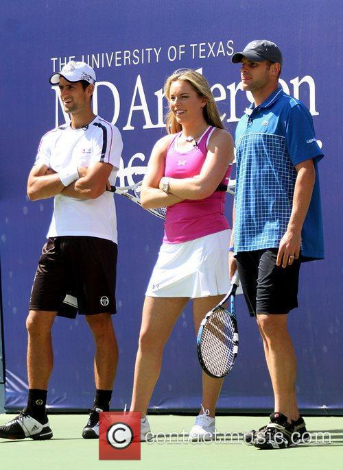 Novak Djokovic, Lindsey Vonn, Andy Roddick 2010 US...