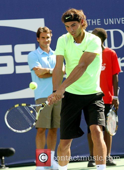 Rafael Nadal 2010 US Open Arthur Ashe Kids...