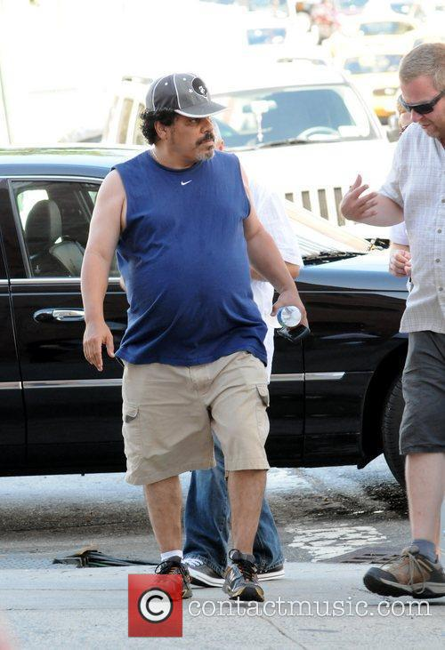Luis Guzman on the set of the new...