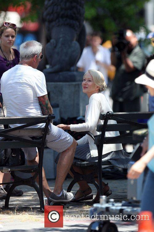 Helen Mirren on the set of the new...