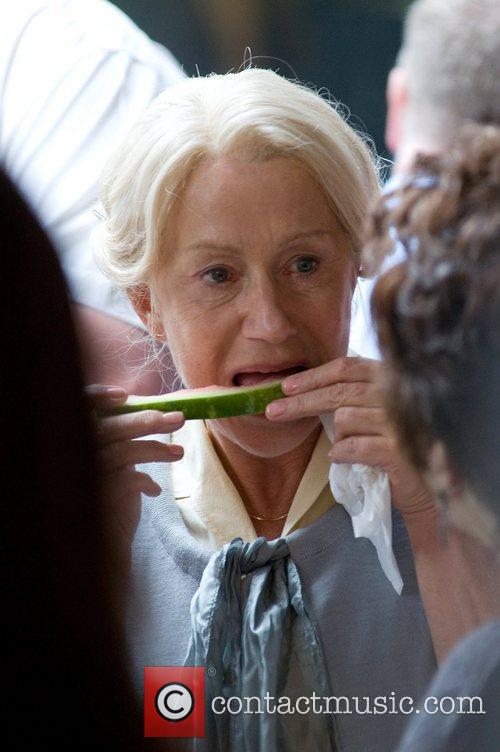 Helen Mirren on the set of new film...