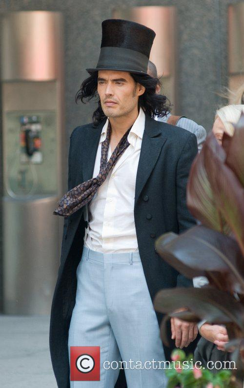 Russell Brand on the set of new film...