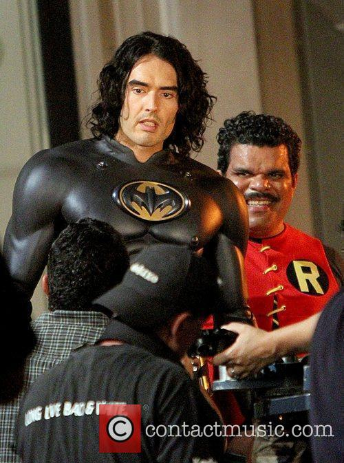 Luis Guzman dresses as Robin and Russell Brand...