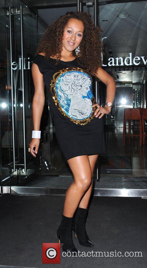 Danielle Brown, sister of Mel B at Aruna...
