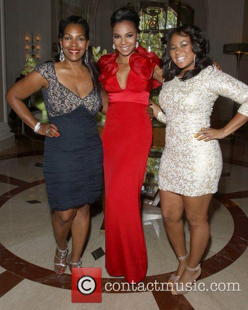 Ashanti with her mother Tina Douglas and her...
