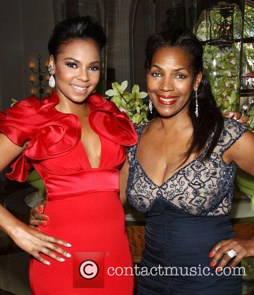Ashanti, with her mother Tina Douglas, leaving the...
