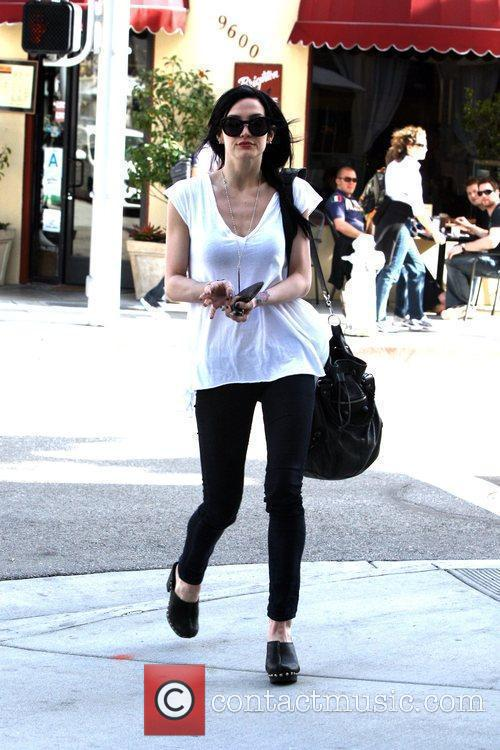 Ashlee Simpson seen leaving her office in Beverly...