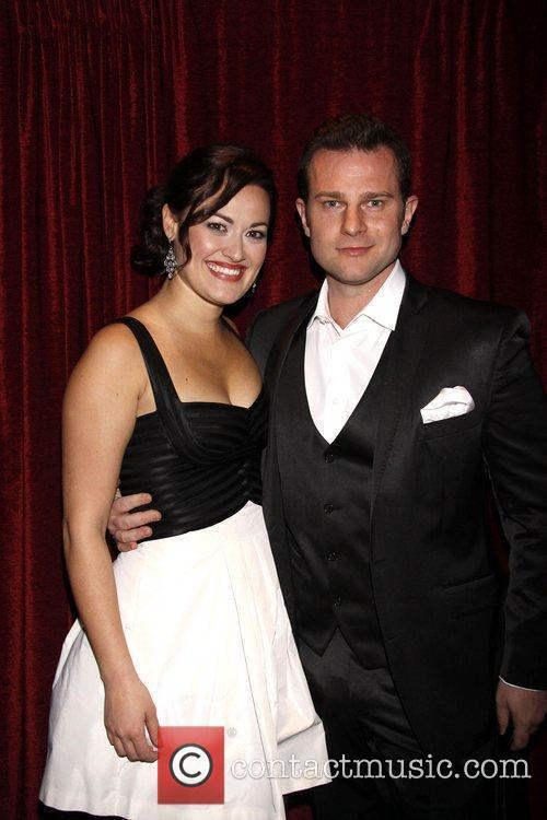 Ashley Brown and David Campbell Opening night of...