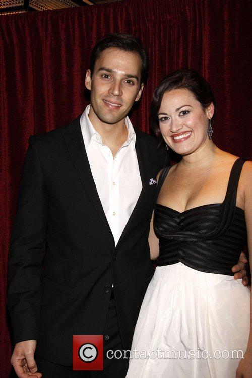 Ryan Silverman and Ashley Brown Opening night of...