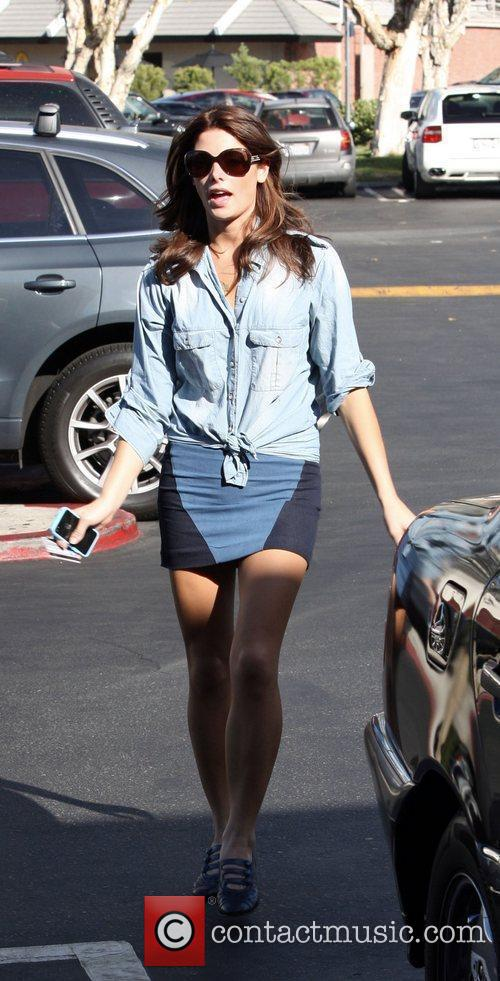 Ashley Greene going to Pinkberry to get a...