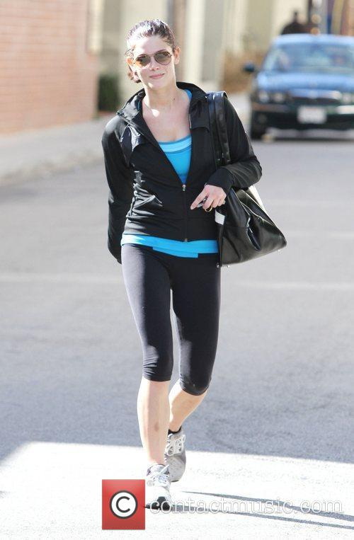 Is seen leaving the gym in Studio City...