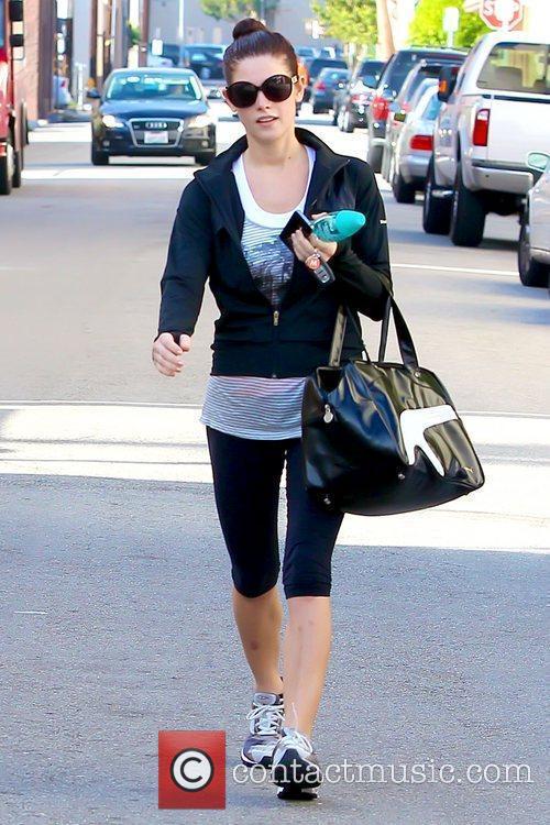 Ashley Greene leaving a gym in Studio City...