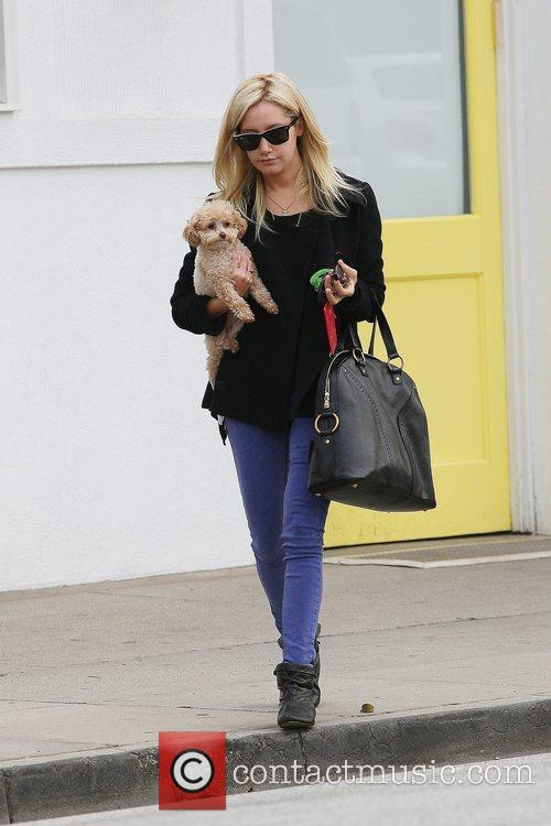 Ashley Tisdale leaving Byron & Tracey salon with...
