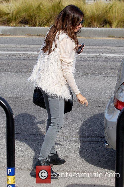 Ashley Tisdale 'Hellcats' star arriving at an office...