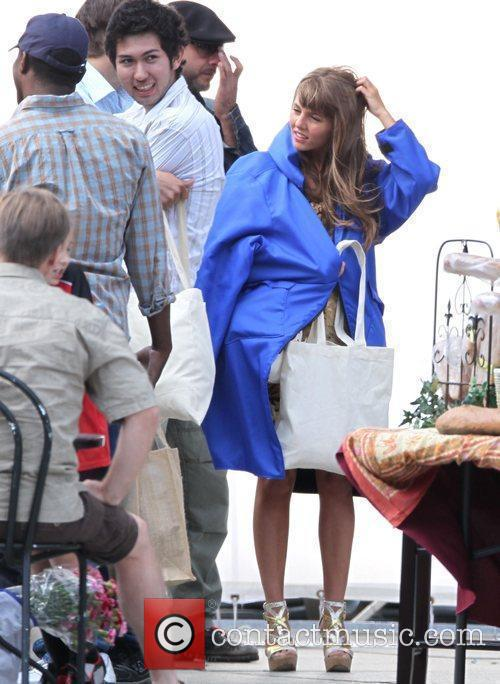 Actress on set of an untitled film project...