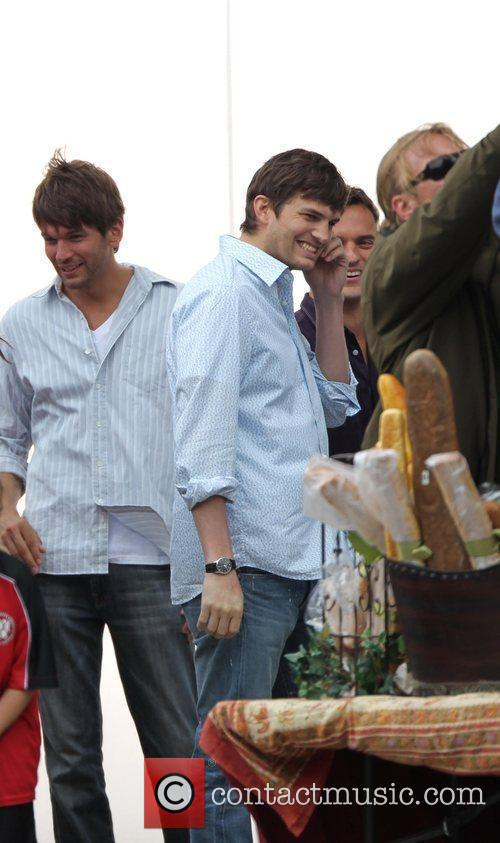 Ashton Kutcher on set of an untitled film...