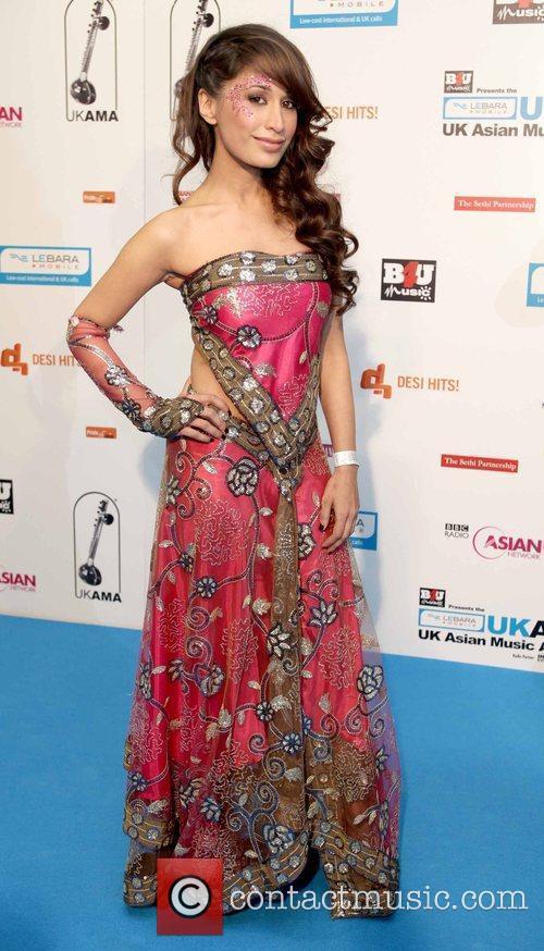 Preeya Kalidas UK Asian Music Awards at the...