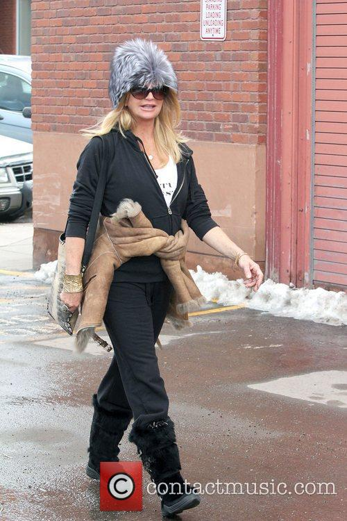 Goldie Hawn out and about in Aspen wearing...