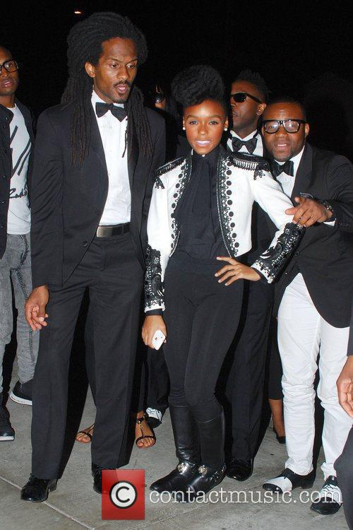 Janelle Monae arrives at Cecconi's in Beverly Hills...