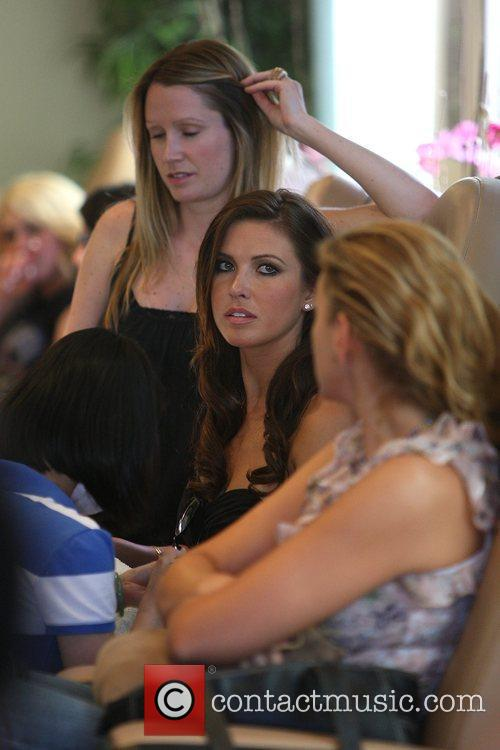 Audrina Patridge gets a manicure and pedicure at...