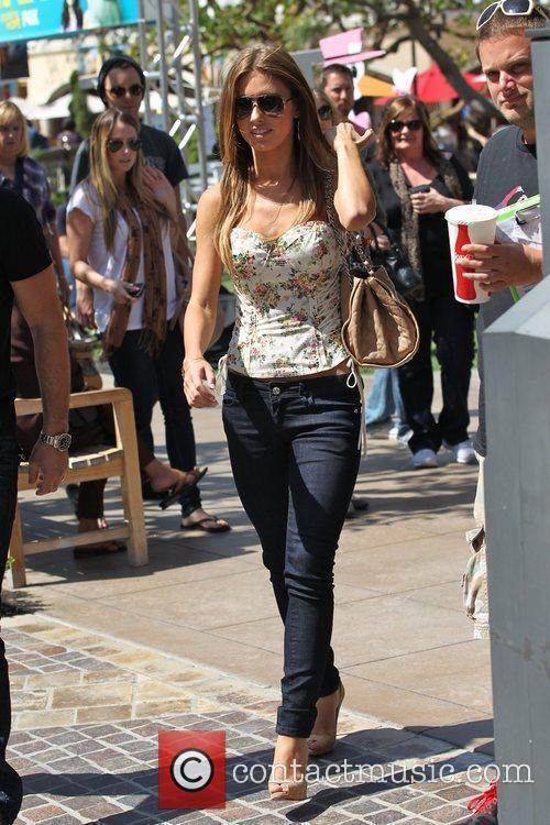 Audrina Patridge arriving at The Grove in Hollywood...