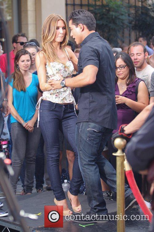 Audrina Patridge showing off her dance moves for...