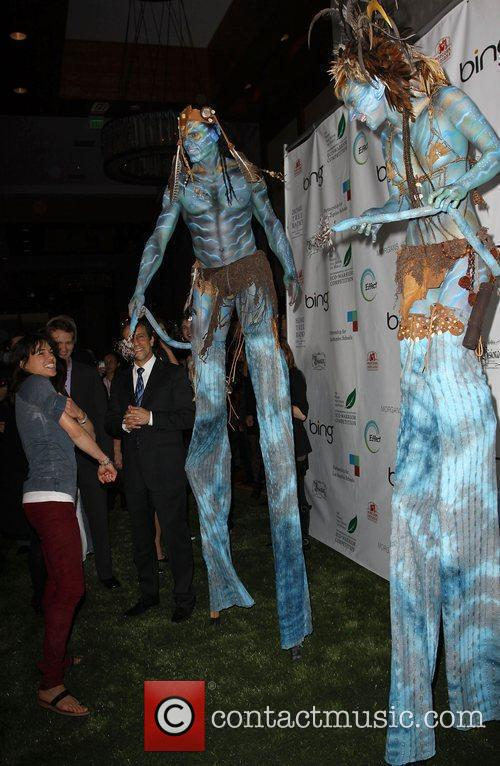 Michelle Rodriguez and 'Avatar' Neytiri The 'Avatar' Cast...