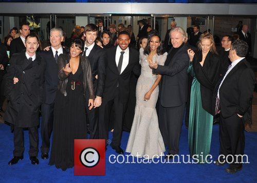 Giovanni Ribisi, James Cameron, Michelle Rodriguez, Sigourney Weaver and Zoe Saldana 3
