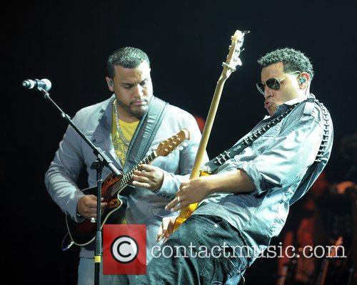 Lenny Santos and Max Santos Aventura performs at...