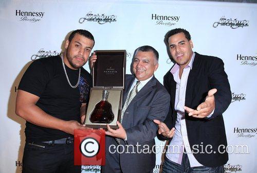 Aventura members Lenny Santos and Max Santos Aventura...