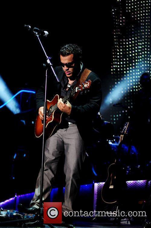 Of the Bachata group Aventura performing live at...