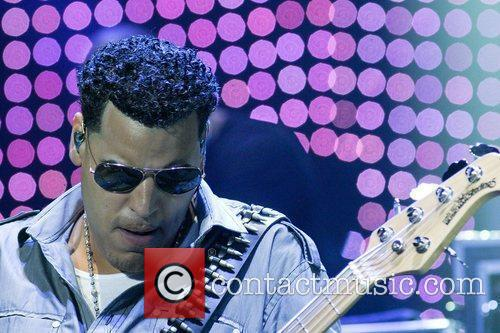 Max �Mikey� Agende Santos of Aventura performs at...