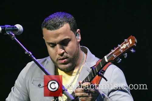 Lenny Santos of Aventura performs at Hard Rock...