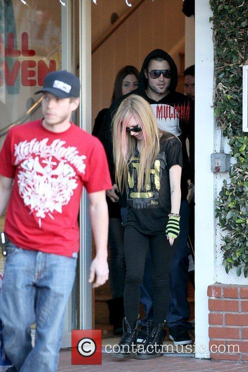 Avril Lavigne, Brody Jenner and Fred Segal 1