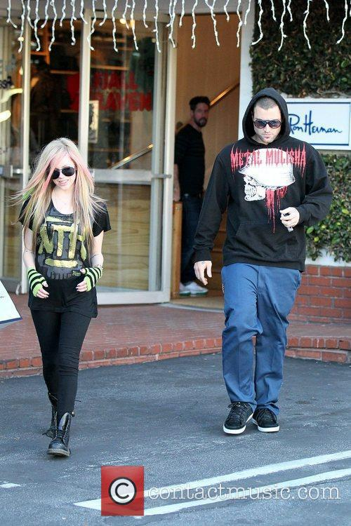 Avril Lavigne, Brody Jenner and Fred Segal 8