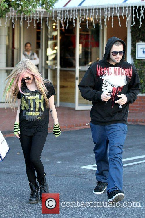 Avril Lavigne, Brody Jenner and Fred Segal 11