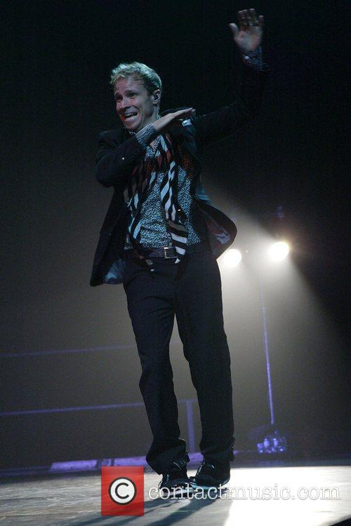 Brian Littrell The Backstreet Boys performing live at...