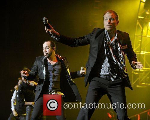A.j. Mclean (l), Backstreet Boys and Brian Littrell 1