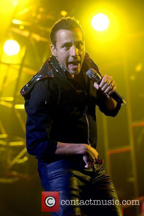 Howie Dorough of Backstreet Boys, performing on stage...