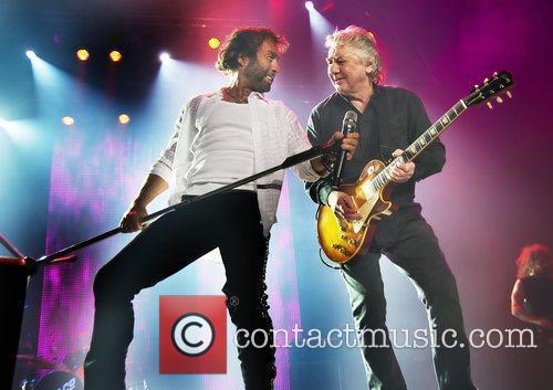 Paul Rodgers and Mick Ralphs Bad Company performing...