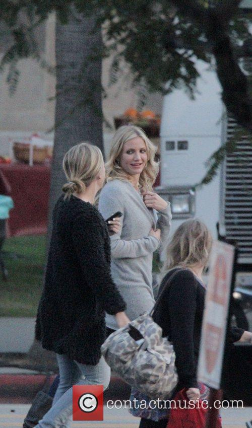 Cameron Diaz on the set of her new...