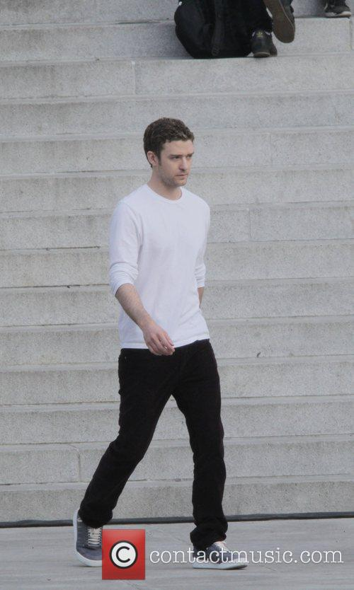 Justin Timberlake on the set of his new...