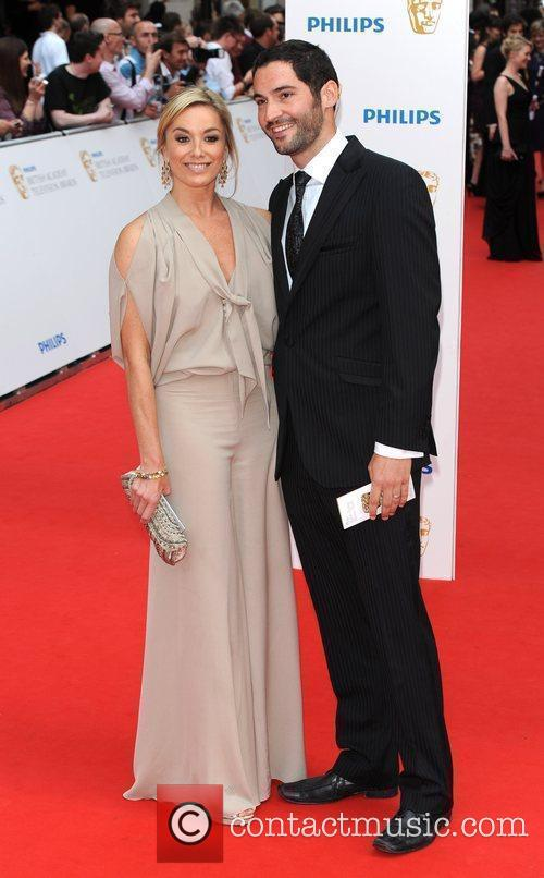 Tamsin Outhwaite and guest Philips British Academy Television...