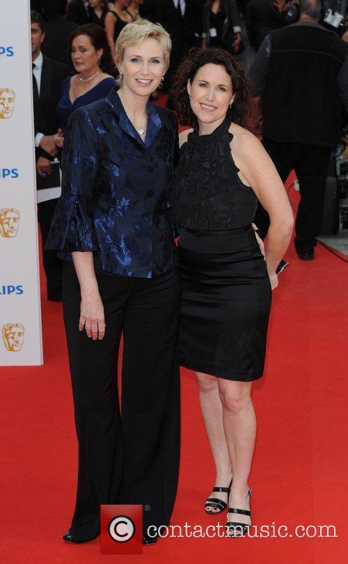 Jane Lynch (L) Philips British Academy Television Awards...