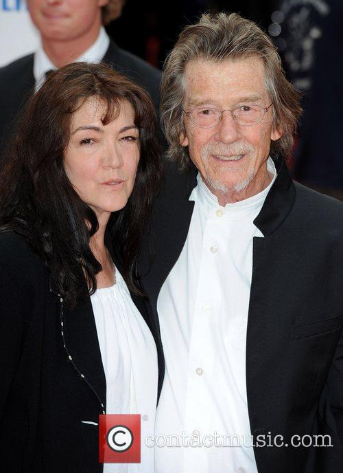 John Hurt and his wife Ann Rees Meyers...