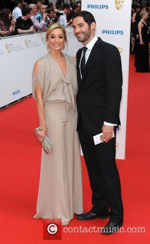 Tamzin Outhwaite and guest Philips British Academy Television...