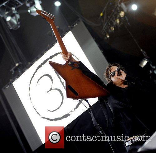 Performing live on stage during The Bamboozle Roadshow...